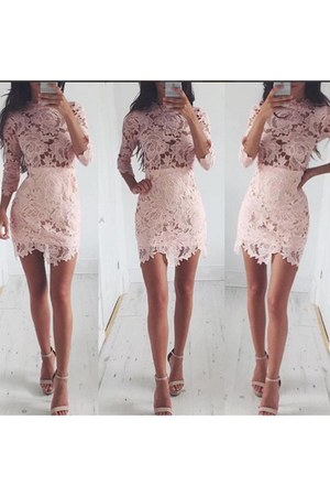 pink lace dress shop notice dress