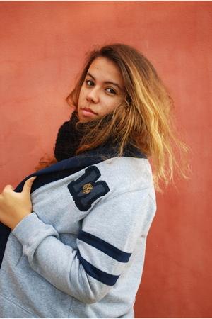silver H&M jacket - black Zara scarf