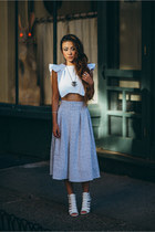 Joa skirt - sam edelman sandals - Viva Aviva top - vanessa mooney necklace