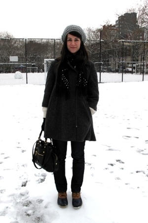Opening Ceremony coat - Gryson purse - steven alan hat - handmade scarf - LL Bea