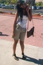 top - shorts - shoes - purse