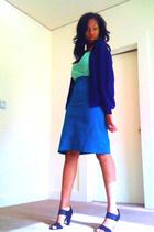 my brand skirt - mybrand shirt - jacket - Aldo shoes