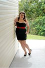 Black-charlotte-russe-dress-black-forever-21-heels