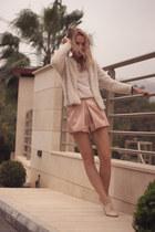 neutral Zara shoes - neutral H&M shirt - camel H&M bag