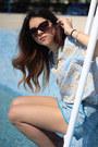 Sky-blue-h-m-shorts-tom-ford-sunglasses-light-blue-zara-top-zara-sandals