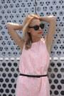 Pink-h-m-dress-black-h-m-heels-black-h-m-belt