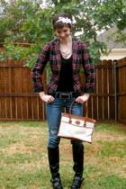 black Charlotte Russe boots - navy Charlotte Russe blazer