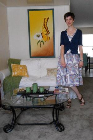 amethyst dress - navy cardigan