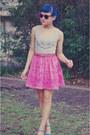 Hot-pink-barkins-sunglasses-tawny-valleygirl-belt-bubble-gum-thrifted-pepe-j