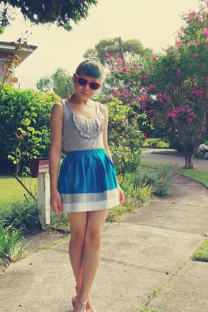 pink Barkins sunglasses - light pink Wittner sandals - turquoise blue Topshop sk