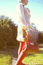 Pink-blouse-gray-dotti-vest-gold-skirt-orange-tights-purple-shoes-oran