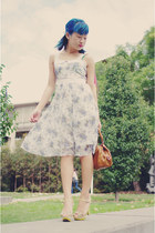 light blue netgirl dress - tawny Marc by Marc Jacobs bag - lime green Nine West
