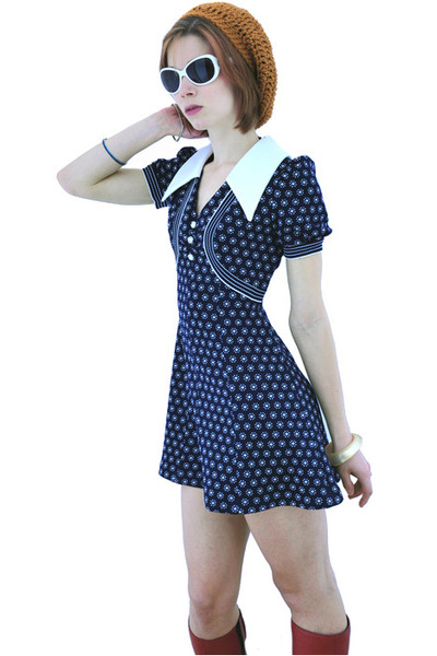 navy novavintagecom dress