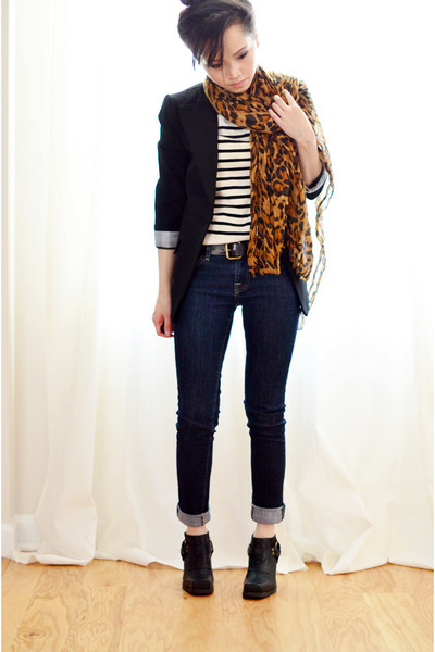 Zara scarf - Jeffrey Campbell boots - Forever21 top