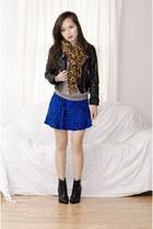 Forever 21 skirt - shoemint boots - Zara scarf