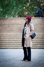 Navy-gap-jeans-ruby-red-dotti-hat-beige-sportscraft-jacket