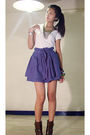 Gold-forever-21-necklace-brown-zara-boots-purple-mango-skirt-white-random-