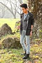 cargo coat Forever 21 coat - denim Topman jeans