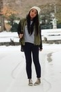 Off-white-beanie-urban-outfitters-hat-army-green-trend-h-m-jacket