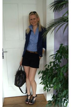 Pimkie blouse - H&M blazer - Primark bag - Miss Anna shorts