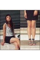 black DIY skirt - light pink LC Waikiki t-shirt - black Deichmann sandals