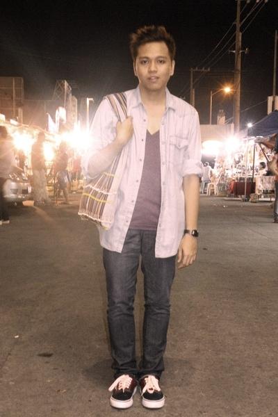 blue Topman shirt - purple Forever 21 t-shirt - blue Lee jeans - Vans shoes - -