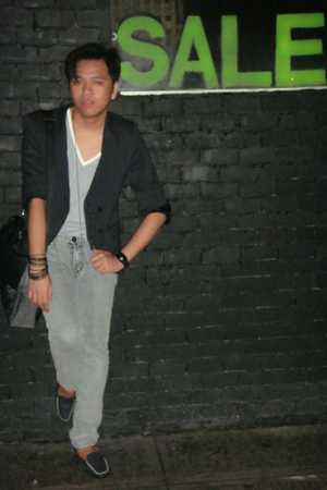 Zara blazer - Topman t-shirt - human jeans - thrifted shoes - Girbaud - H&M