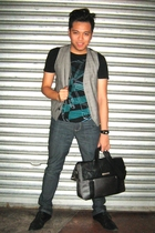 Topman t-shirt - Topman vest - human jeans - Girbaud