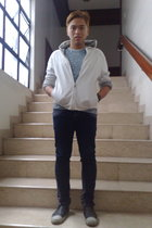 Puma - Zara t-shirt - Penshoppe jeans