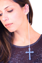 silver ear cuff accessories