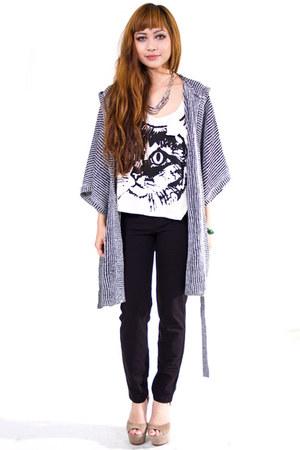 heather gray Cheap Monday cardigan