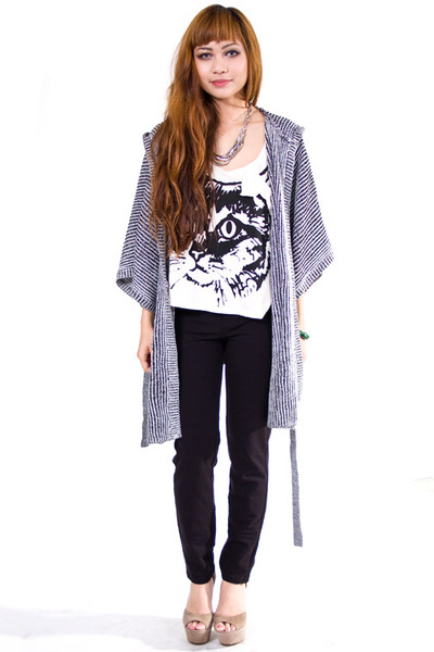 heather gray Cheap Monday cardigan