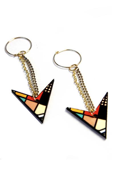 gold Miss Wax earrings