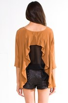 bronze funktional blouse