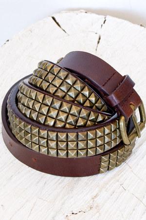 dark brown Publish belt