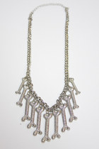 silver Number A necklace