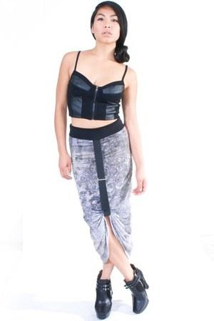 silver SOB skirt