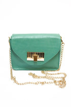 teal Number A purse