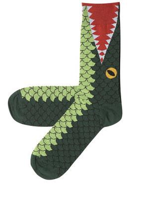 green fine knit socks Topshop socks