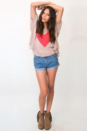 denim shorts MinkPink shorts