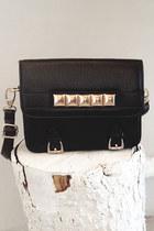 black studded satchel Number A purse