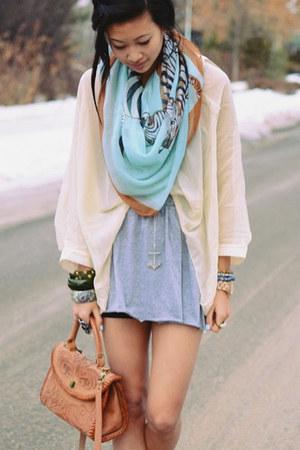 light blue zebra scarf scarf
