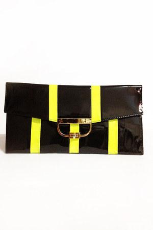 black Number A purse