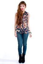Charcoal Gray MinkPink Blouses