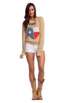 beige wildfox couture sweatshirt