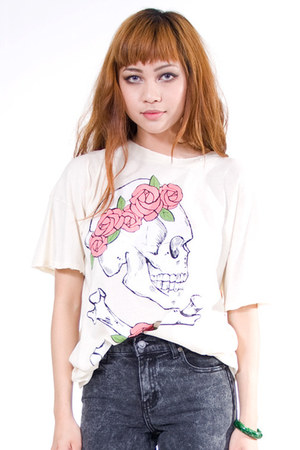 ivory wildfox couture shirt