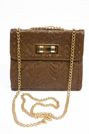 brown Number A purse