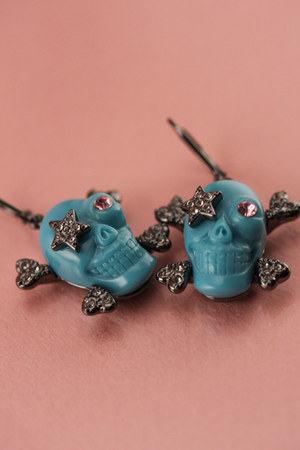 turquoise blue wildfox couture earrings