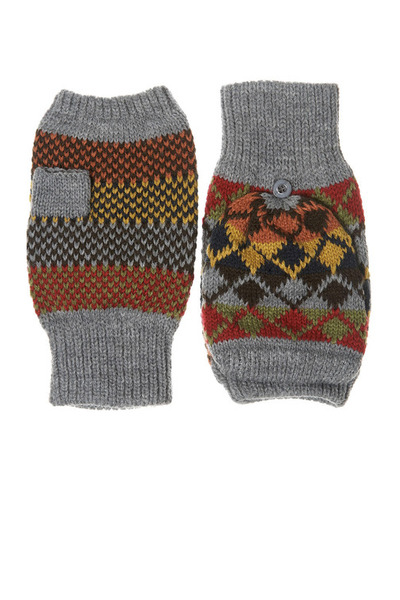 heather gray Topshop gloves