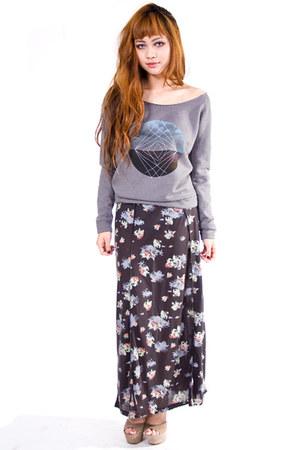 heather gray sweater